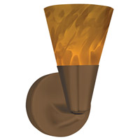 Laveer LED 5 inch Oil-Rubbed Bronze Sconce Wall Light in Amber