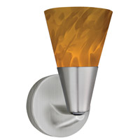 Laveer LED 5 inch Satin Nickel Sconce Wall Light in Amber