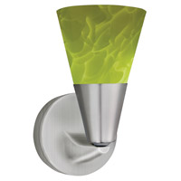 Laveer LED 5 inch Satin Nickel Sconce Wall Light in Green