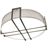 AFX LBTF1624LAJUDSNGY Lambert LED 16 inch Satin Nickel Flush Mount Ceiling Light