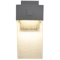 AFX LGW6141800L30MVTG Logan 1 Light 14 inch Textured Grey Outdoor Wall Sconce