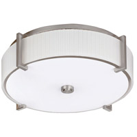 AFX MIDF313SNMV Delany 3 Light 16 inch Satin Nickel Flush Mount Ceiling Light in 39, Round