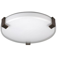 AFX Nolan 1 Light Flush Mount in Satin Nickel NLF162400L30D1SN