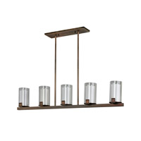AFX Lighting Nolan 5 Light Pendant in Oil-rubbed Bronze NLP520RBSCTD