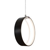 AFX Ora 1 Light Pendant in Black ORP12900L30D2BK-WA