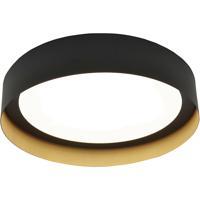 AFX RVF121400L30D1BKGD Reveal LED 12 inch Black and Gold Flush Mount Ceiling Light