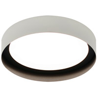 Reveal 1 Light 12 inch White and Black Flush Mount Ceiling Light