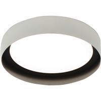 AFX RVF121400L30D1WHBK Reveal 1 Light 12 inch White and Black Flush Mount Ceiling Light