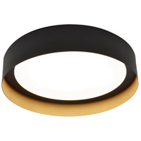 Reveal LED 16 inch Black and Gold Flush Mount Ceiling Light