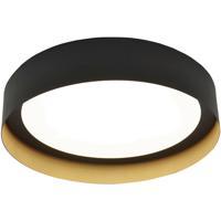 AFX RVF162600L30D1BKGD Reveal 1 Light 16 inch Black and Gold Flush Mount Ceiling Light