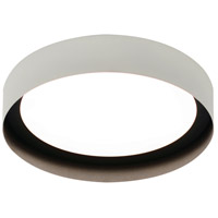 Reveal 1 Light 16 inch White and Black Flush Mount Ceiling Light