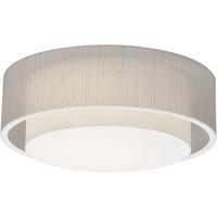 AFX SAF1614LAJUD-JT Sanibel 1 Light 16 inch White Flush Mount Ceiling Light