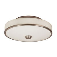 AFX Lighting Sheridan 1 Light Semi-Flush in Satin Nickel SHC155SNMVT-LA