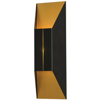 AFX SUMS051413L30MVBK Summit LED 5 inch Black and Gold ADA Sconce Wall Light