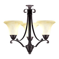 AFX Lighting Swain 3 Light Chandelier in Oil-Rubbed Bronze SWC313SCT