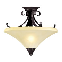AFX Lighting Swain 2 Light Semi-Flush in Oil-Rubbed Bronze SWF213SCT