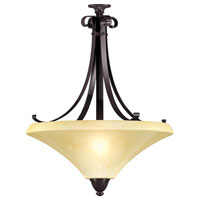 AFX Lighting Swain 3 Light Pendant in Oil-Rubbed Bronze SWP313SCT
