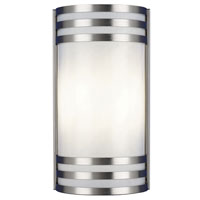 AFX Lighting Trillium 2 Light Outdoor Sconce in Satin Nickel TRW213SNEC