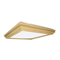 AFX Lighting Unfinished Crown Molding 2 Light Decorative Flush Linear in Unfinished Wood UCM2U3R8