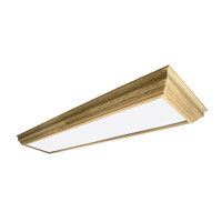 AFX Lighting Unfinished Crown Molding 4 Light Decorative Flush Linear in Unfinished Wood UCM432R8