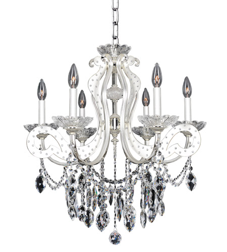 Allegri 022050-017-FR001 Titian 6 Light 25 inch Two-Tone Silver Chandelier Ceiling Light photo