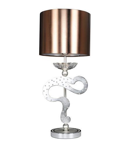 Allegri 022091-017-FR001 Titian 25 inch 40 watt Two-Tone Silver Table Lamp Portable Light photo