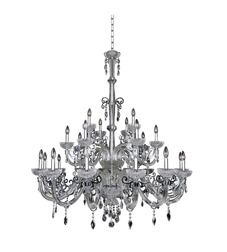 Allegri 022250-010-FR001 La Valle 25 Light 51 inch Chrome Chandelier Ceiling Light photo