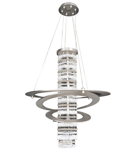 Allegri 022550-009-FR001 Giovanni 5 Light 26 inch Brushed Nickel Pendant Ceiling Light in Firenze Clear photo