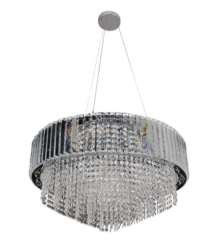 Allegri 022751-010-FR001 Adaliz 16 Light 28 inch Chrome Pendant Ceiling Light in Firenze Clear photo