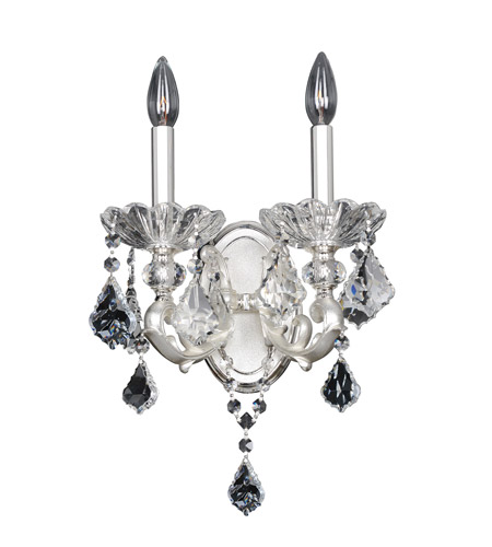 Allegri 023120-017-FR001 Praetorius 2 Light 11 inch Two-Tone Silver Wall Bracket Wall Light in Firenze Clear photo