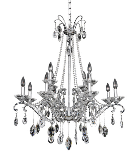 Allegri 023551-010-FR001 Torrelli 12 Light 32 inch Chrome Chandelier Ceiling Light in Firenze Clear photo