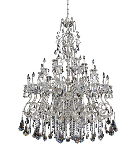 Allegri 023650-014-FR001 Haydn 41 Light 59 inch Silver Chandelier Ceiling Light in Firenze Clear photo