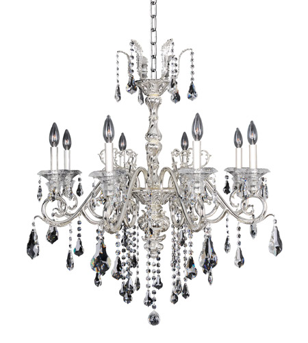 Allegri 023655-014-FR001 Haydn 8 Light 30 inch Silver Chandelier Ceiling Light in Firenze Clear photo