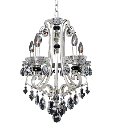 Allegri 023950-017-FR001 Bedetti 5 Light 18 inch Two-Tone Silver Chandelier Ceiling Light photo