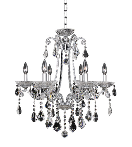 Allegri 024150-010-FR001 Ferrero 6 Light 24 inch Chrome Chandelier Ceiling Light in Firenze Clear photo