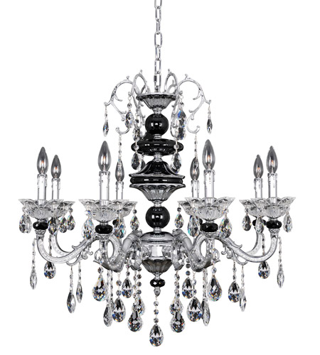 Allegri 024351-010-FR001 Faure 8 Light 32 inch Chrome Chandelier Ceiling Light in Firenze Clear photo
