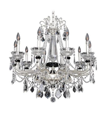 Allegri 024451-017-FR001 Campra 10 Light 34 inch Two-Tone Silver Chandelier Ceiling Light in Firenze Clear photo