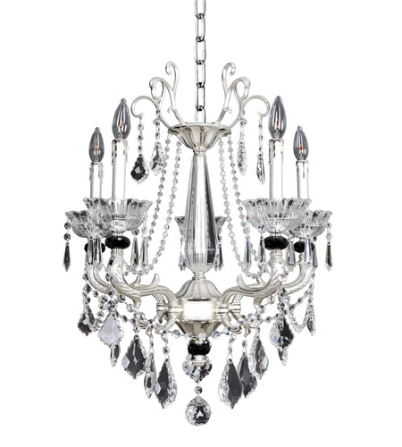 Allegri 024453-017-FR001 Campra 5 Light 23 inch Two-Tone Silver Chandelier Ceiling Light in Firenze Clear photo