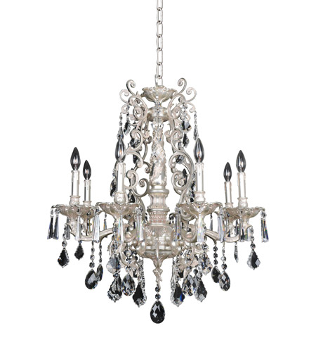 Allegri 024552-005-FR001 Marcello 8 Light 28 inch Antique Silver Chandelier Ceiling Light in Firenze Clear photo