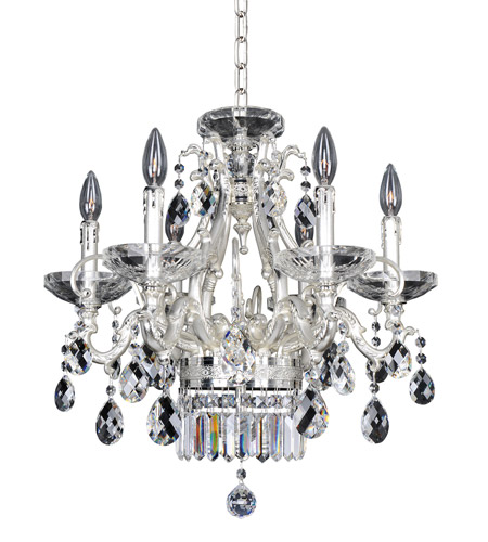 Allegri 024654-017-FR001 Rossi 6 Light 21 inch Two-Tone Silver Chandelier Ceiling Light in Firenze Clear photo