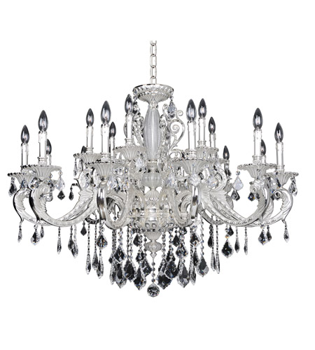 Allegri 024750-017-FR001 Cassella 18 Light 37 inch Two-Tone Silver Chandelier Ceiling Light in Firenze Clear photo