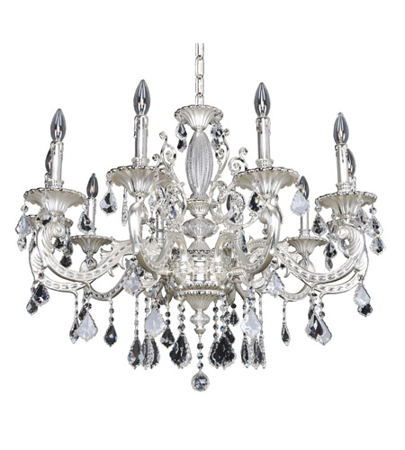 Allegri 024753-017-FR001 Cassella 10 Light 35 inch Two-Tone Silver Chandelier Ceiling Light in Firenze Clear photo