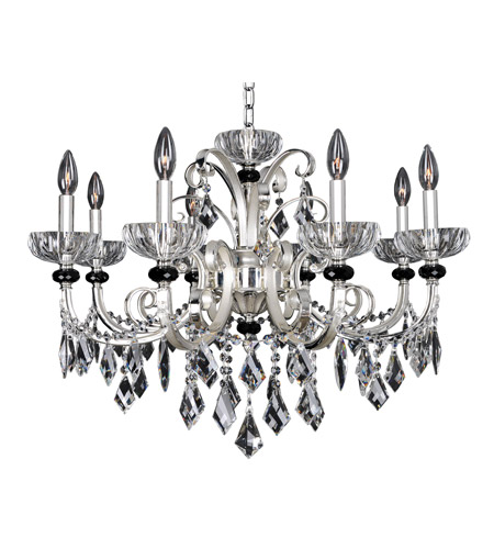 Allegri 024850-017-FR001 Gabrieli 8 Light 30 inch Two-Tone Silver Chandelier Ceiling Light photo