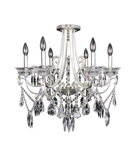 Allegri 025042-017-FR001 Brunetti 6 Light 25 inch Two-Tone Silver Flush Mount Ceiling Light photo