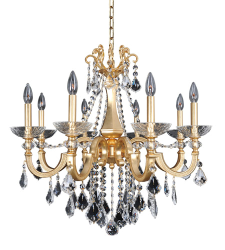 Allegri 025451-011-FR001 Barret 8 Light 29 inch 24K French Gold Chandelier Ceiling Light in Firenze Clear photo