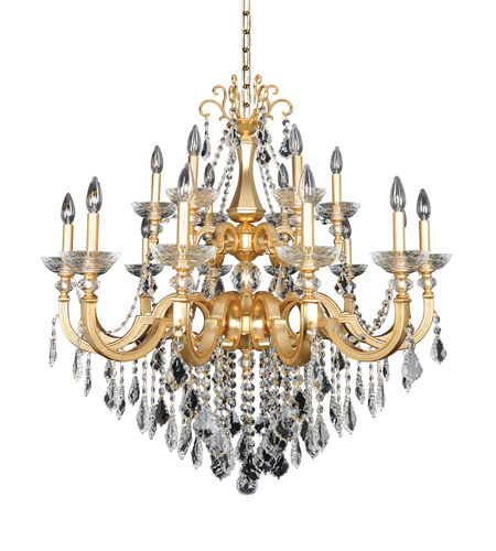 Allegri 025453-011-FR001 Barret 18 Light 39 inch 24K French Gold Chandelier Ceiling Light in Firenze Clear photo