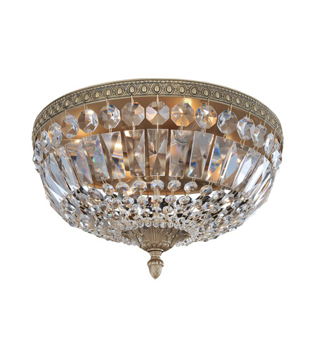 Allegri 025941-031-FR001 Lemire 4 Light 14 inch Antique Gold Flush Mount Ceiling Light photo