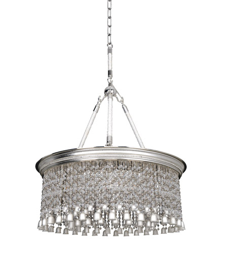 Allegri 026652-017-FR001 Clare 6 Light 26 inch Two-Tone Silver Pendant Ceiling Light photo