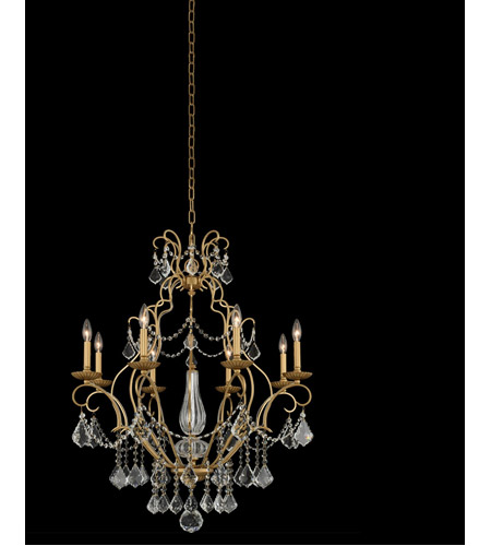 Gold Patina Steel Chandeliers