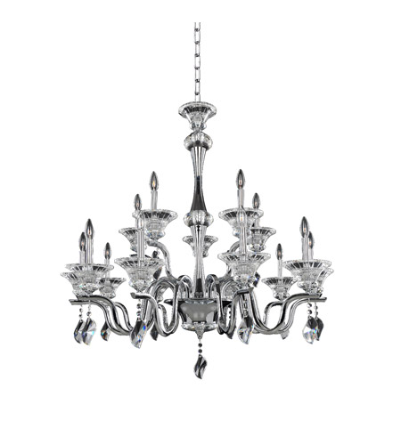 Allegri 028074-010-FR001 Lusso 15 Light 42 inch Chrome Chandelier Ceiling Light photo